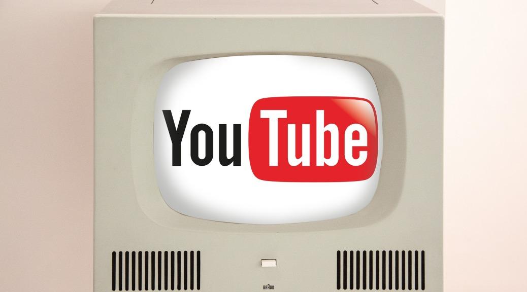 TV displaying Youtube Logo
